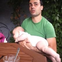 Gian Luca with his son Benas