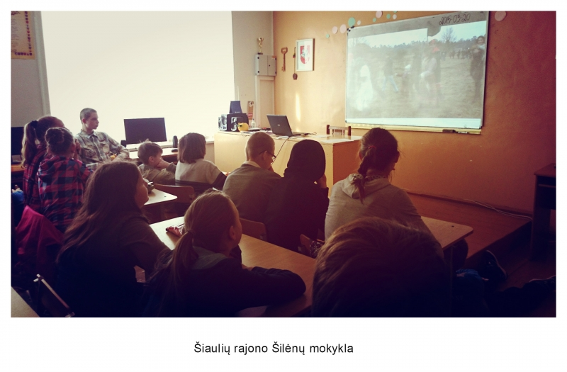Šiaulių rajono Šilėnų mokykla (mokytojos Sigitos Zavadzkienės nuotrauka)