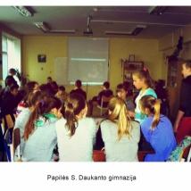 Papilės S. Daukanto gimnazija (mokytojos Eglės Zaveckienės nuotrauka)
